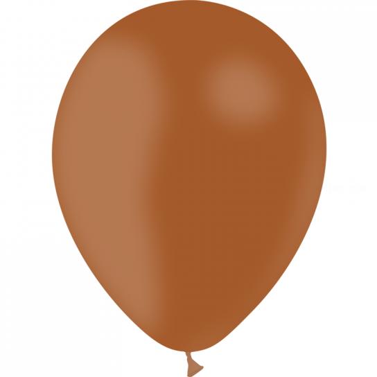 100 ballons marron opaque 14 cm