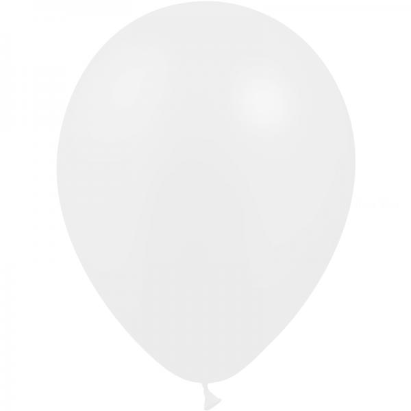 25 ballons blanc métal opaque 14 cm