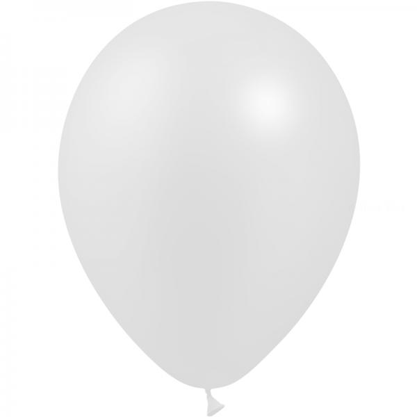 25 ballons blanc perle de culture 14 cm