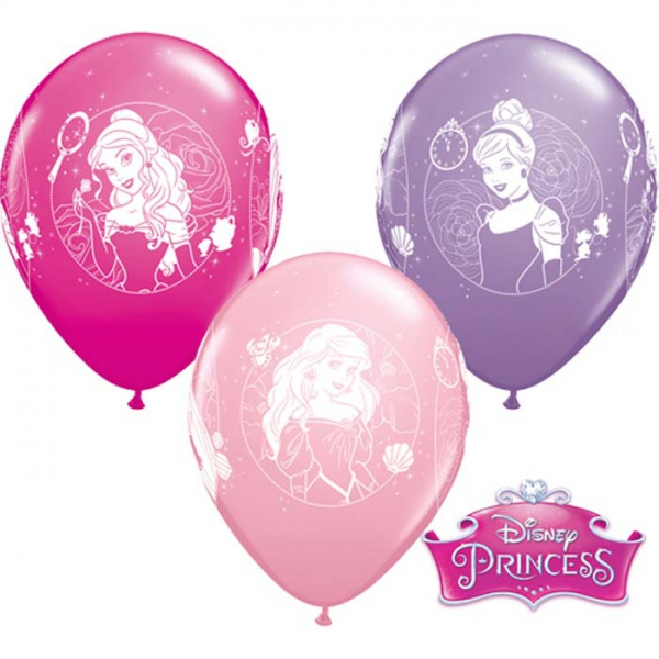 6 ballons Princesses qualatex 30 cm