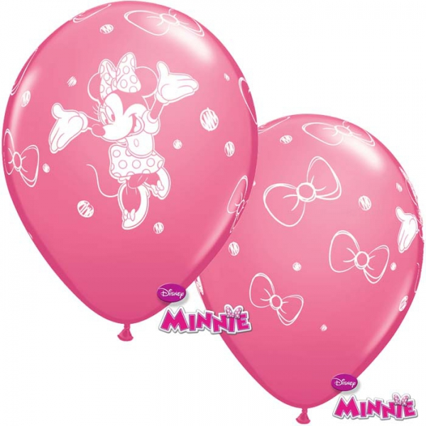 6 ballons Minnie qualatex 30 cm
