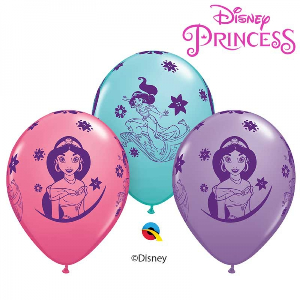 6 ballons Princesse Jasmine qualatex 30 cm