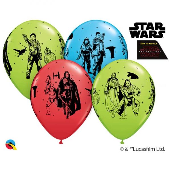 6 ballons Star War qualatex 30 cm