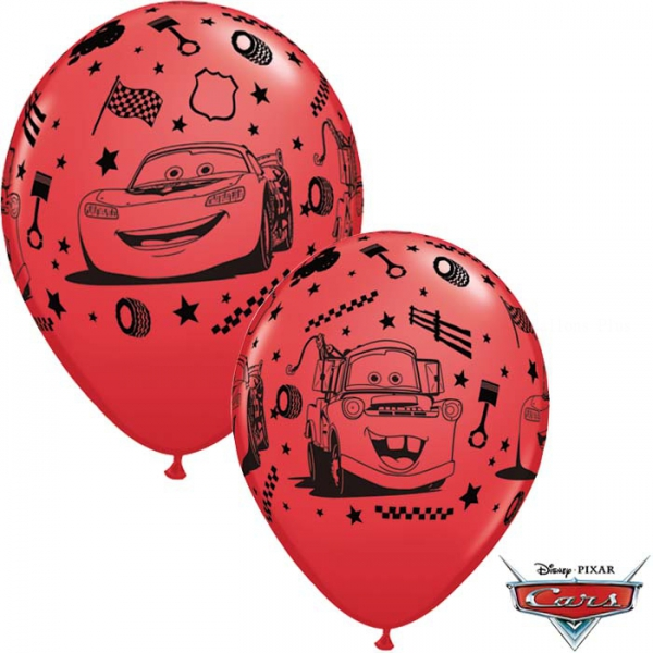 6 ballons Cars qualatex 30 cm