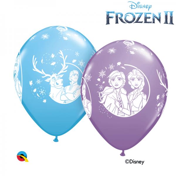 6 ballons La reine des neige qualatex 30 cm99713 Reine des Neiges