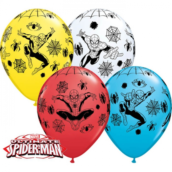 25 ballons Spiderman qualatex 28cm