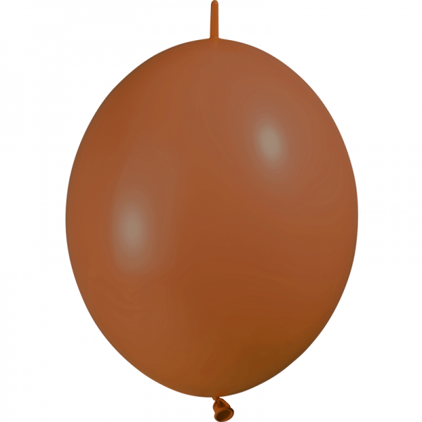 10 ballons double attache marron opaque 30 cm