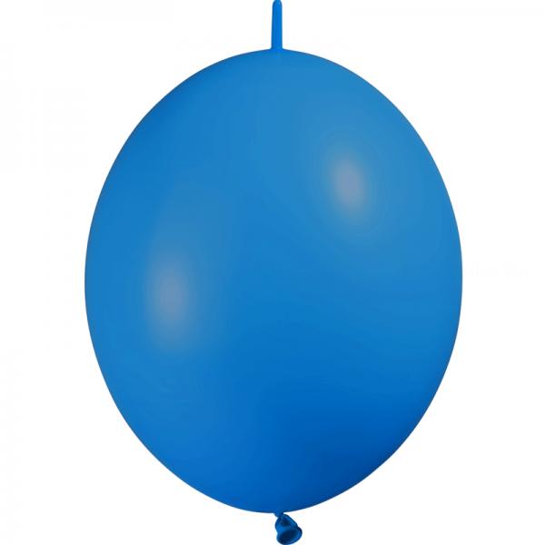 10 ballons double attache 30 cm opaque bleu roi