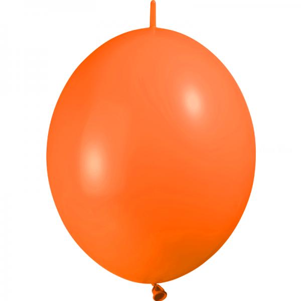 100 ballons double attache 30 cm opaque orange