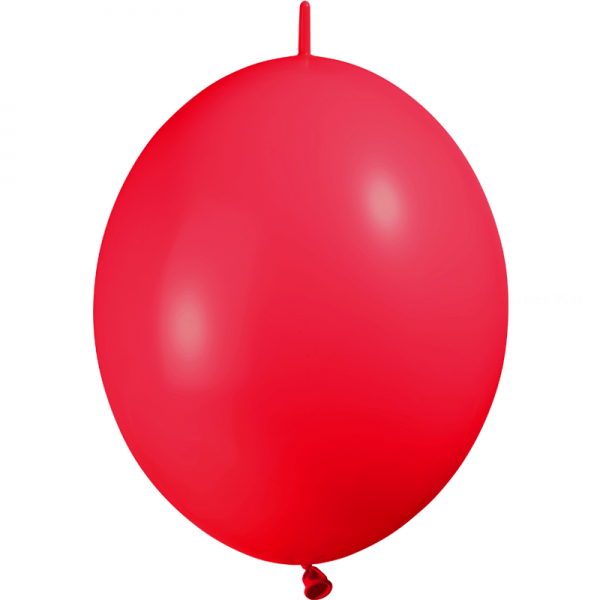 100 ballons double attache 30 cm opaque rouge