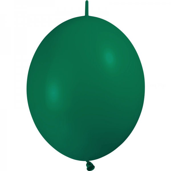 10 ballons double attache 30 cm opaque vert foret