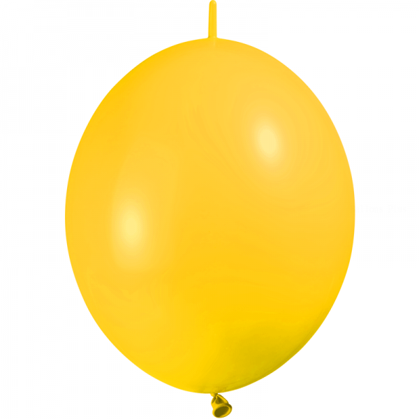 10 ballons double attache 30 cm opaque jaune d'or