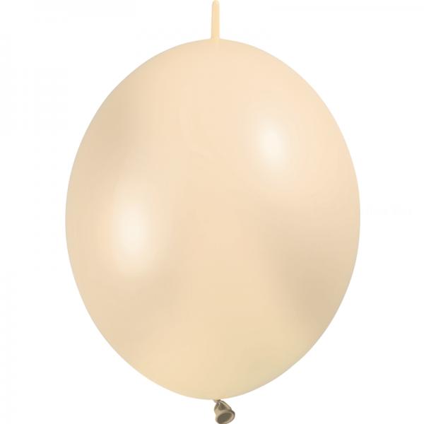 100 ballons double attache 30 cm opaque ivoire