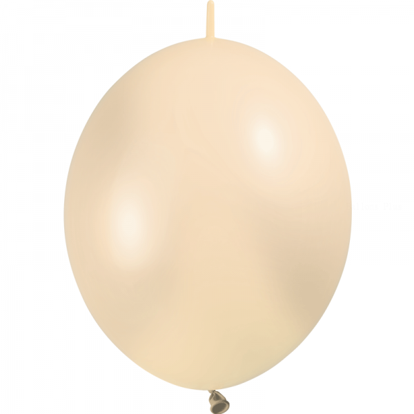 10 ballons double attache 30 cm opaque ivoire