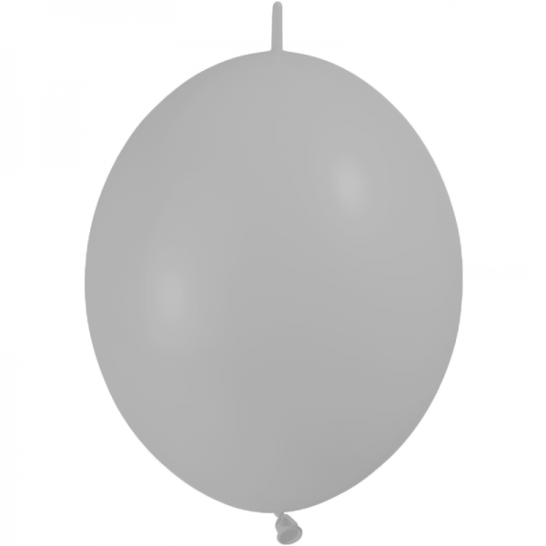 10 ballons double attache 30 cm opaque gris