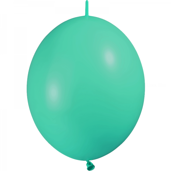 10 ballons double attache 30 cm opaque menthe