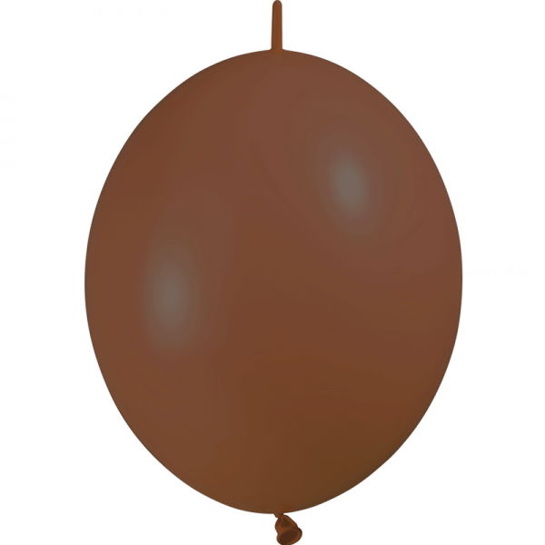10 ballons double attache 30 cm opaque chocolat