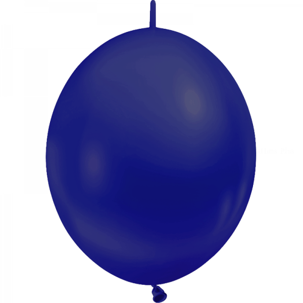 10 ballons double attache 30 cm opaque bleu marine