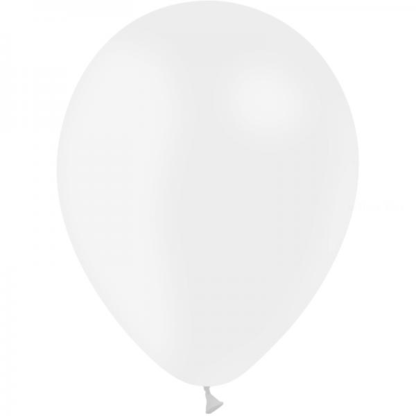100 ballons Blanc opaque 24 cm