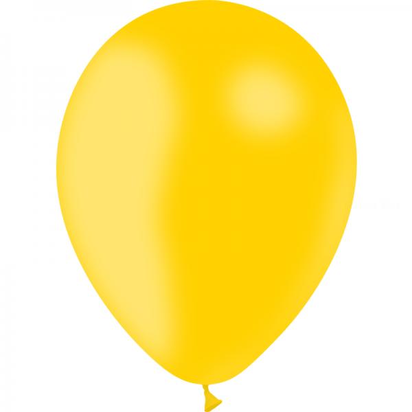 100 ballons Jaune d'or opaque 24 cm