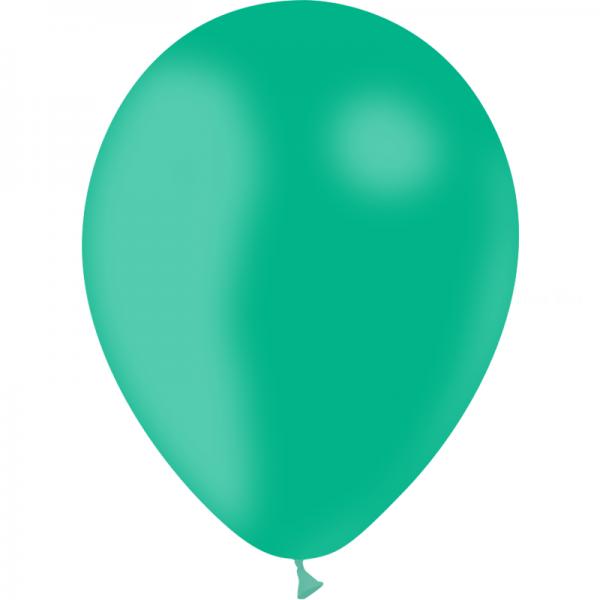 100 ballons vert menthe opaque 24 cm