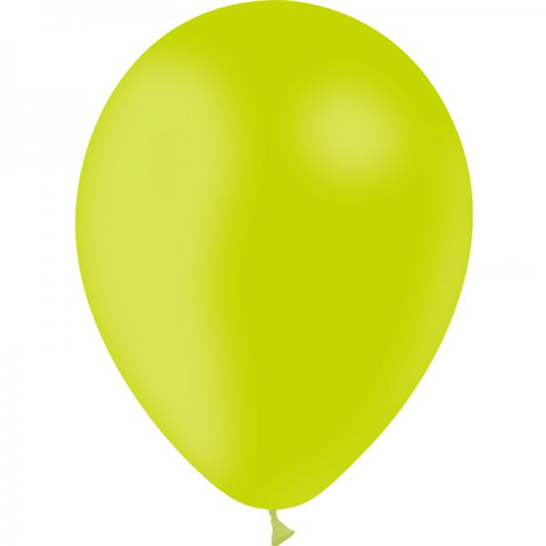 100 ballons Vert limette opaque 24 cm