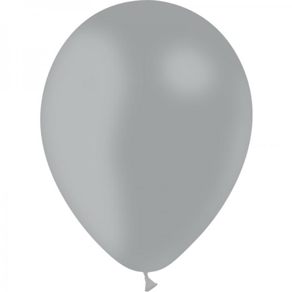 100 ballons gris opaque 24 cm
