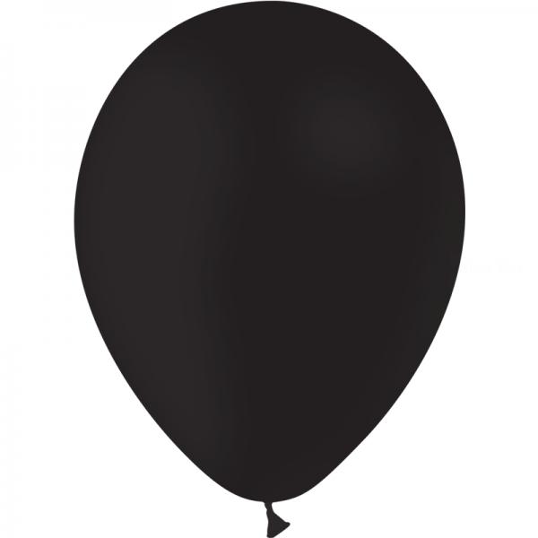100 ballons noir opaque 24 cm
