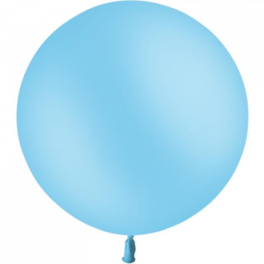 1 ballon 60cm bleu ciel ballon