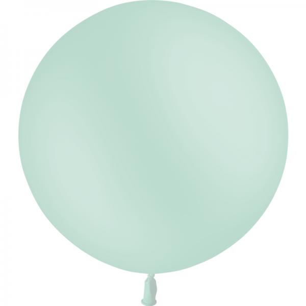 1 ballon 60cm vert menthe pastel matte