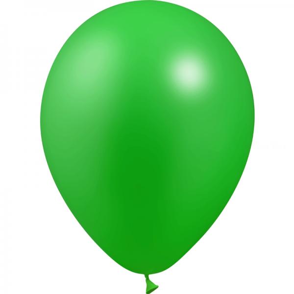 50 ballons Vert métal 28 cm