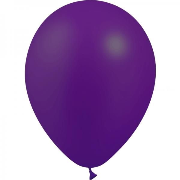 50 ballons violet métal 28 cm