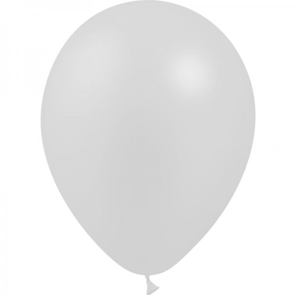 100 ballons argent métal 28 cm