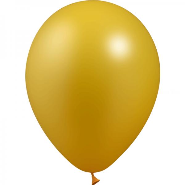 10 ballons or métal 28 cm