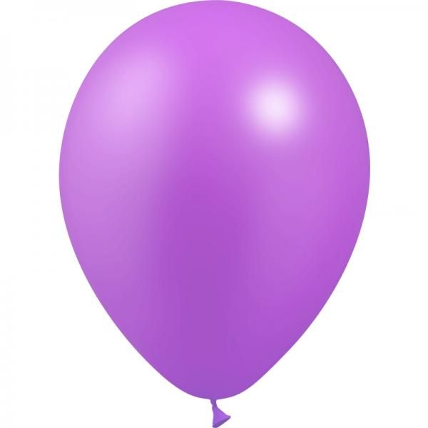 10 ballons lavande métal 28 cm