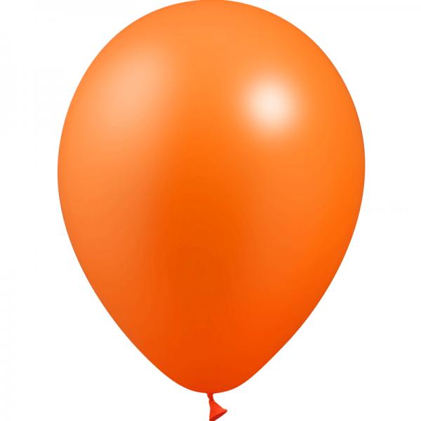 10 ballons orange métal 28 cm