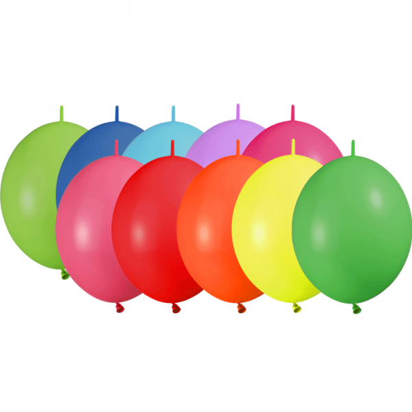 25 ballons double attache 15cm opaque assortis
