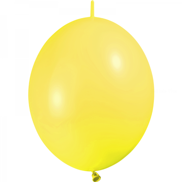 25 ballons double attache 15cm opaque jaune citron