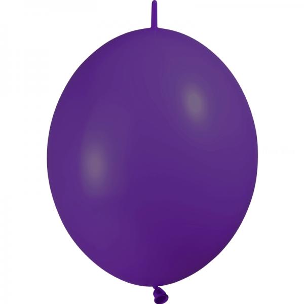 25 ballons double attache 15cm opaque violet
