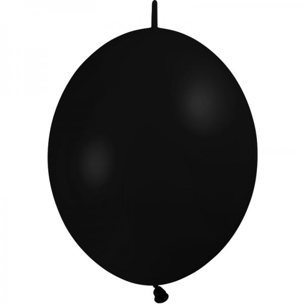 25 ballons double attache 15cm opaque noir