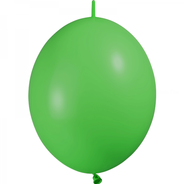 25 ballons double attache 15cm opaque vert