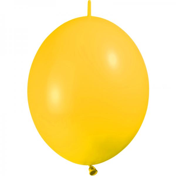25 ballons double attache 15cm opaque jaune d'or