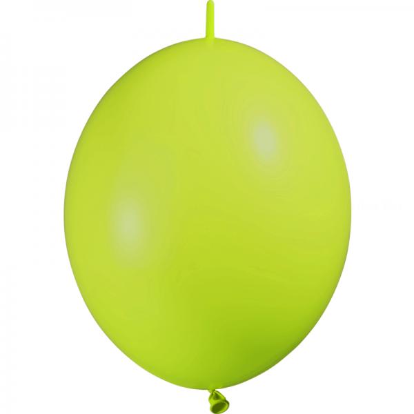 25 ballons double attache 15cm opaque vert limette