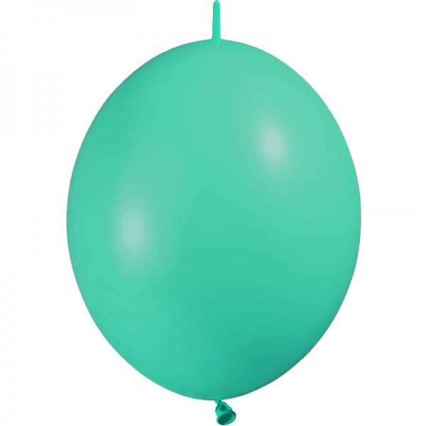 25 ballons double attache 15cm opaque vert menthe