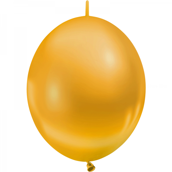 25 ballons double attache 15cm opaque or