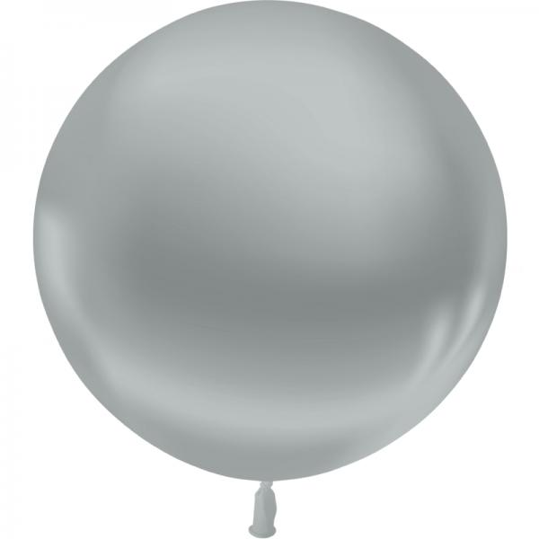 1 ballon 55 cm argent
