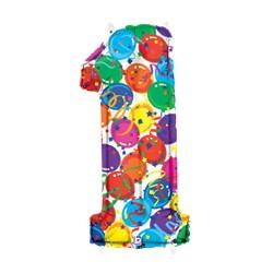 Chiffre festival color métal mylar 140multi1 BETALLIC Chiffres Festival Couleur (Gonflage Air Ou Et Helium)