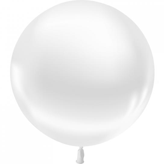 1 ballon 55cm blanc metal