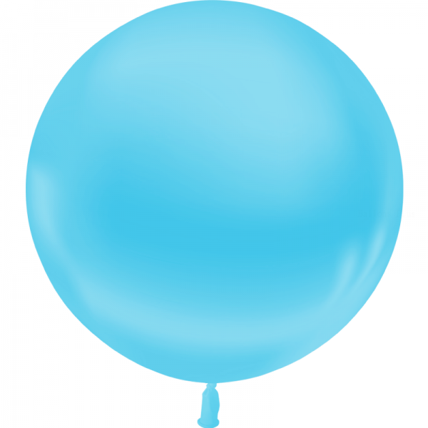 1 ballon 55 cm bleu ciel metal