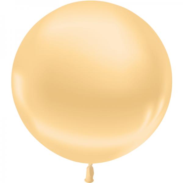 1 ballon 55cm ivoire metal